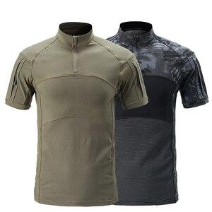 Image 3 - Mega kamuflaj askeri tişört erkekler yaz RU kurbağa askerler savaş taktik T Shirt askeri kuvvet Multicam Tee Camo kısa kollu