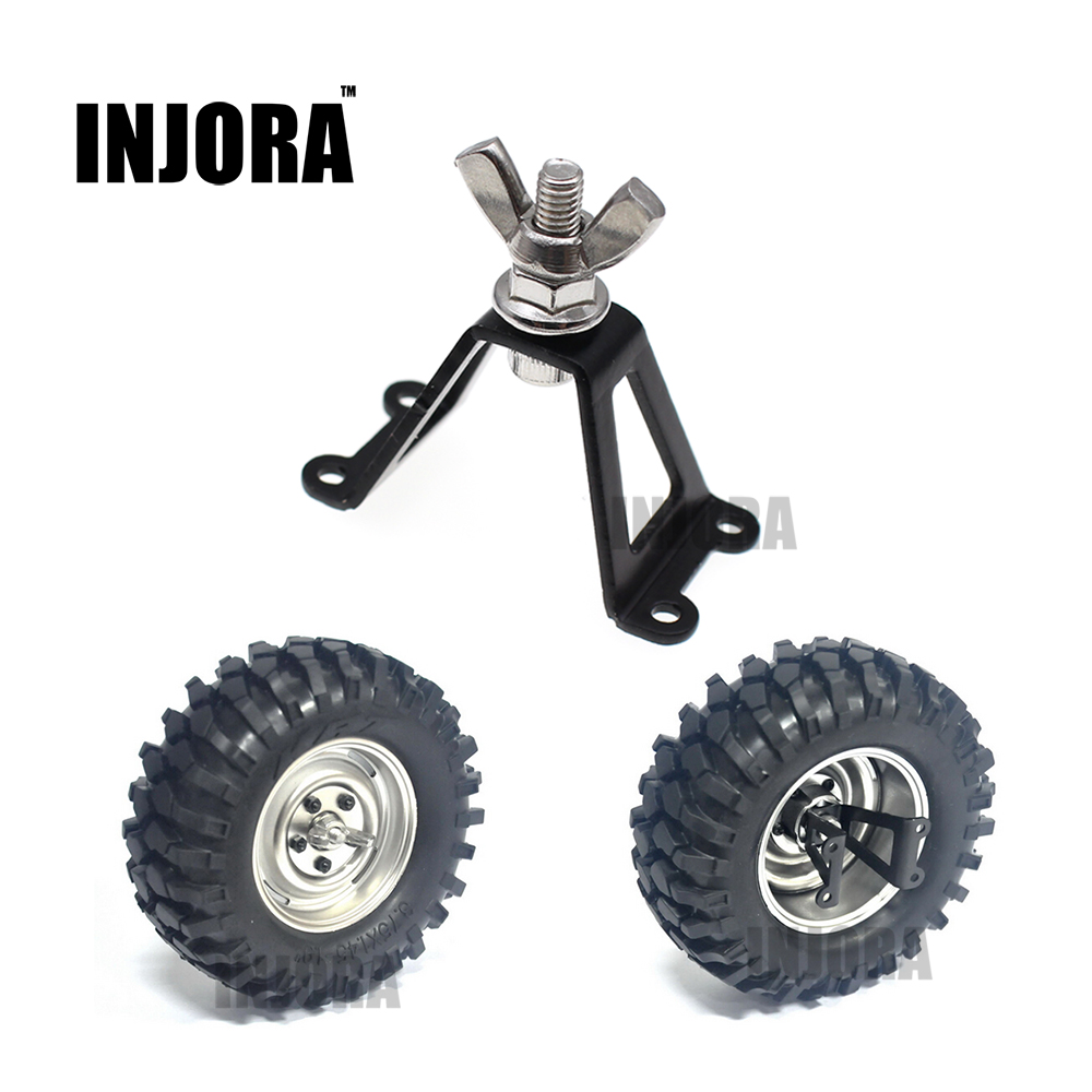 INJORA 1Pcs Spare Tire Brace / Wheel Holder for RC Crawler Axial SCX10 RC4WD D90 Tamiya free shipping 4pcs lot 1 9 inch wheels tire tyre for rc car model crawler tamiya cc01 f350 rc 4wd axial scx10t etc