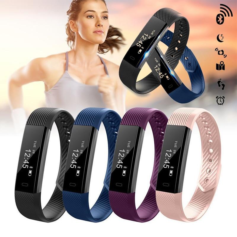 bilder für ID115 Smart Armband Fitness Tracker podometre Wecker Vibration Smart Armband Bluetooth für xiomi Android IOS pk fitbit