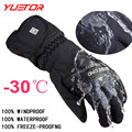 Brand YUETOR -30 degree unisex warm snowboard gloves for winter men snow windproof guante nieve ski gloves