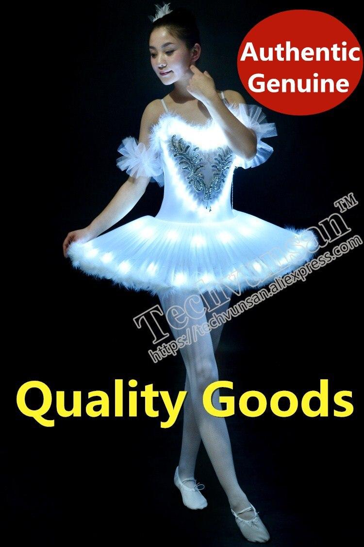LED light Swan Lake Noctilucan Light LED ballet skirt Adult children fluffy fluorescent performance clothing Dance