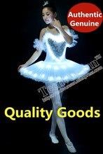 Светодиодный Светодиодный свет Лебединое озеро Noctilucan светодиодный балетная юбка для взрослых и детей пушистая флуоресцентная одежда танцевальный костюм