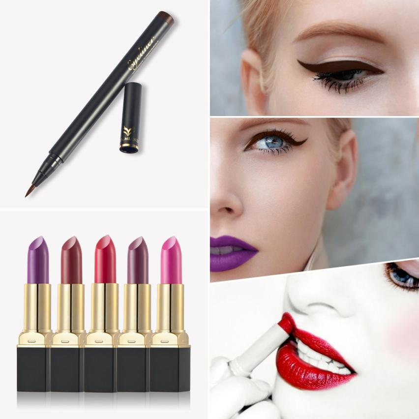New fashion high quality Beautiful colors 12 Colors Lipstick Lipstick Waterproof Thin Quick Dry Eyeliner Pen Set Anne