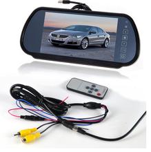 Car Wired 7″ Car LCD Media Monitor TV/DVD/GPS Screen+4LED HD 170 degee Rear View Parking Camera