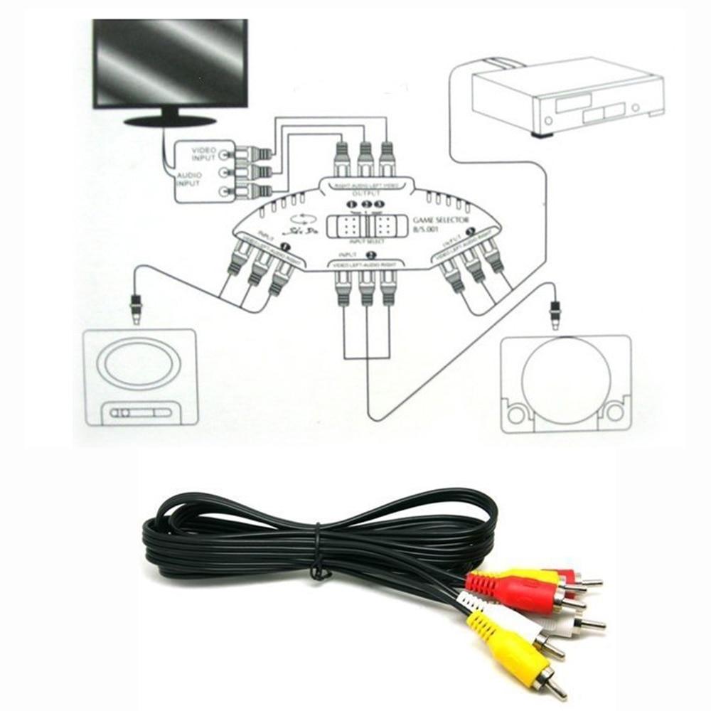 high quality audio video av rca switch splitter selector 3 to 1 rcahigh quality audio video [ 1000 x 1000 Pixel ]