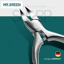 Щипцы MR.GREEN для кутикулы и вросших ногтей, очень острые щипцы из нержавеющей стали, 2019