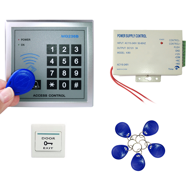 Home Door Access Control System Set with Keypad + Power Supply Controller + Rfid Keypad Code IN STOCK