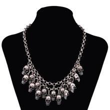 Женское винтажное ожерелье lzhlq колье с подвеской в виде черепа
