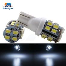 цена на 20/200pcs T10 1206 20 SMD Led Bulbs W5W 194 Clearance Lights Car Door Instrument Reading Light Indicator White 12V Free Shipping