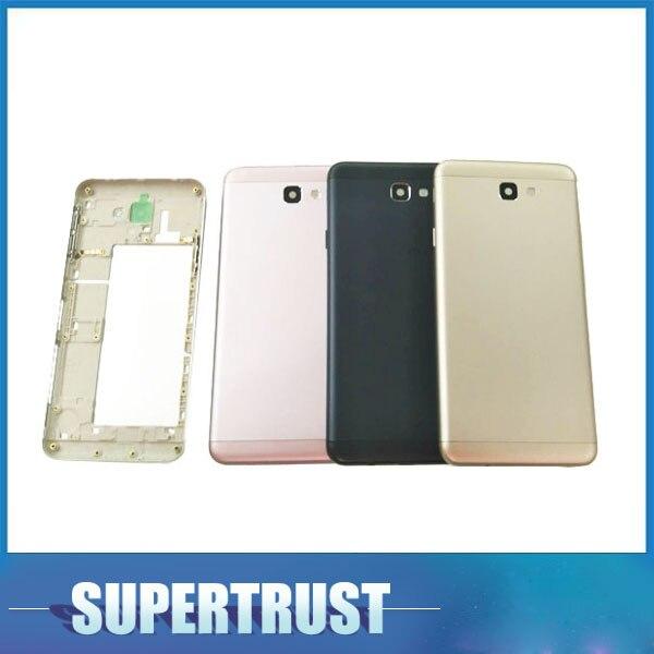 Für Samsung Galaxy J5 Prime G5700 J7 Prime G610 Batterie Abdeckung Gehäuse Fällen Zurück Hinten Schwarz Rosa Gold Splitter Farbe mit IMEI