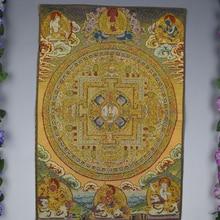 1 шт., 24 дюйма, буддизм, мандала, танга, подвесная настенная парчовая картина, Тибет, подвесная роспись, Фреска, тибетская ткань, шелк, домашний декор, YYY9882