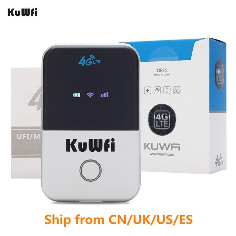 Routeur Wifi KuWfi 4G Mini 3G/4G LTE routeur sans fil Portable de poche Wi-fi Hotspot Mobile voiture routeur Wi-fi avec fente pour carte Sim