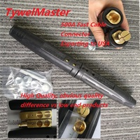 Professional 500A Quick Fitting Cable Connector American Style Fast Cable Connector Big Copper Body ISO60974 Conformity