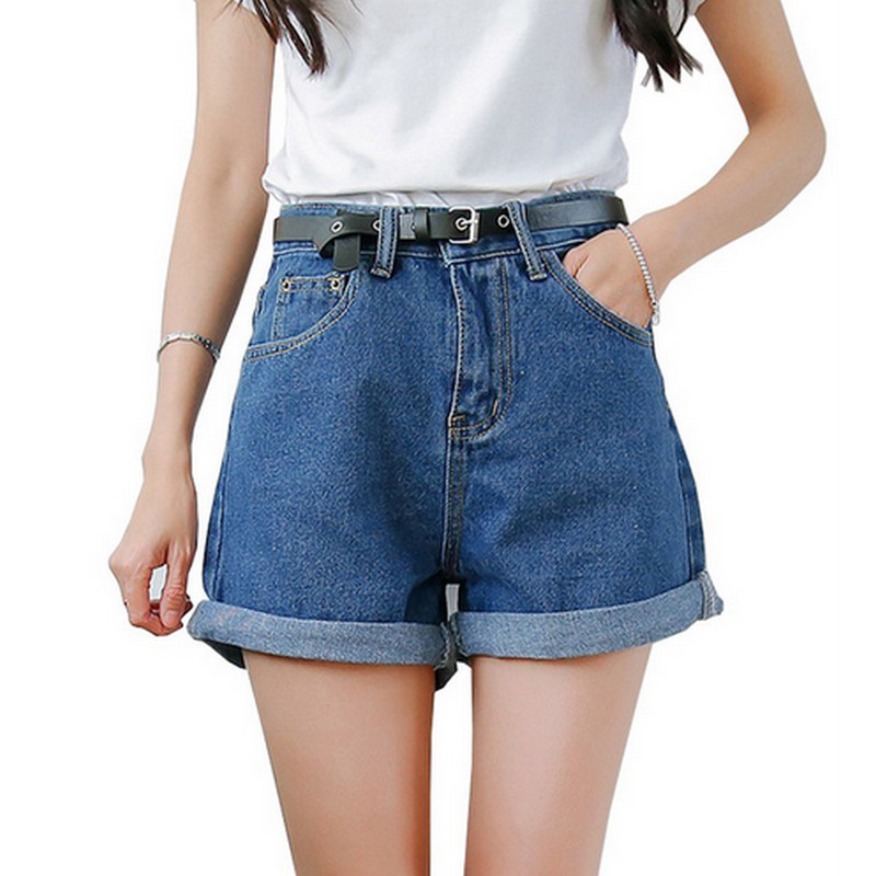 Solid Women Clothing Denim Shorts With Pockets New Arrival Harajuku Summer Ropa Mujer Slim Short Pants Feminino Casual Jeans(China)