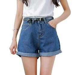 Однотонная женская одежда, джинсовые шорты с карманами, Новое поступление, Harajuku, лето, Ropa Mujer, тонкие короткие штаны, Feminino, повседневные джинс...