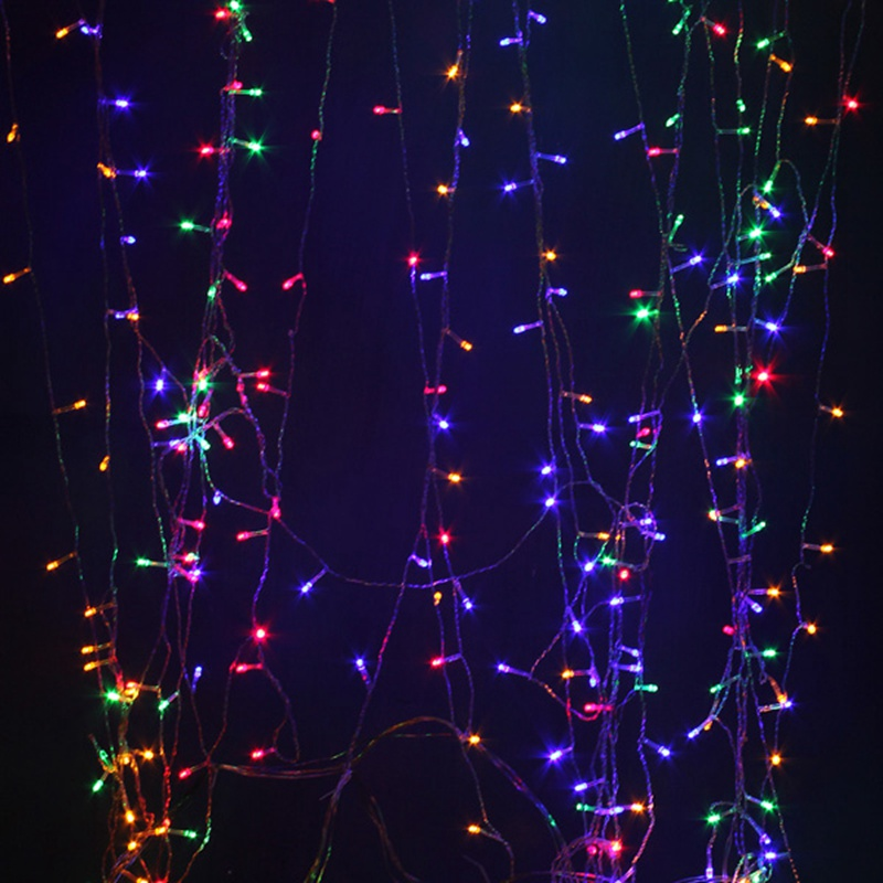 300X300CM LED String Light Curtain <font><b>Outdoor</b></font> Christmas Decoration LED Fairy Wedding Ropes Home Window Lamp AC220V EU Plug