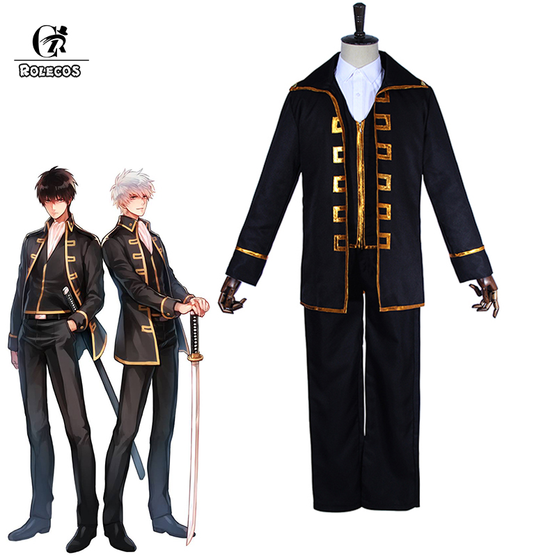ROLECOS Gintama Cosplay Costume Hijikata Toushirou Cosplay Uniform Okita Sougo Shin Sen Gu Mi Costume Japanese Anime Full Set