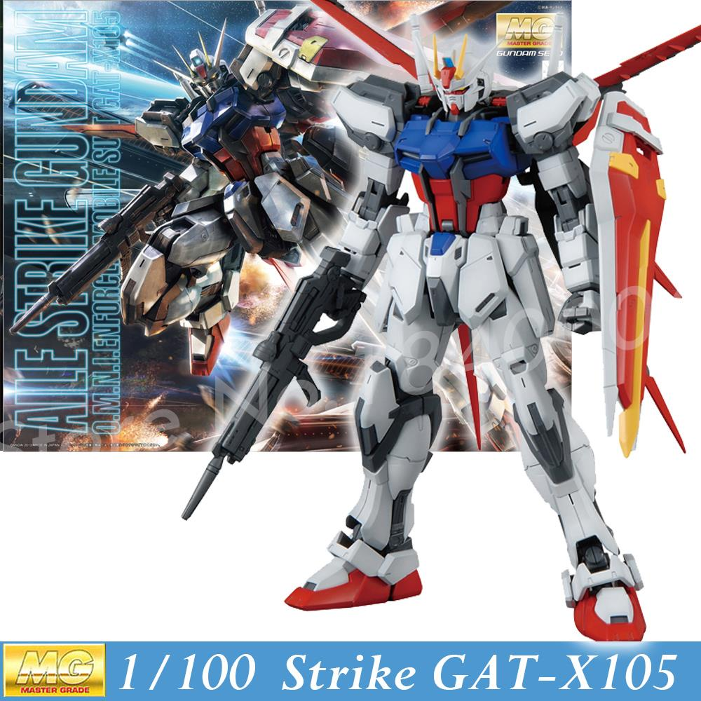 Daban Model New Gundam Seed Hobby MG GAT-X105 Aile Strike Gundam Ver. RM 1/100 Scale Action Figure Model Kit Assembled Toy Anime free shipping action figures robot anime assembled gundam mg 1 100ew wing zero gundam luminous stickers original box gundam