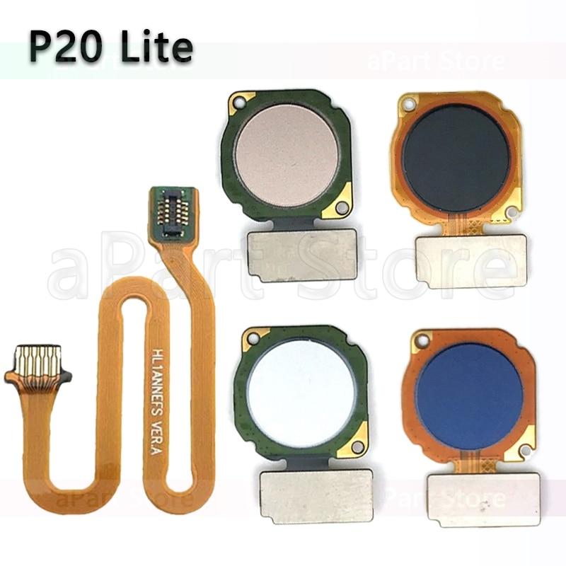 Home Back Button Key Fingerprint Sensor Flex Cable For Huawei P20 Lite Home Flex Original