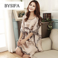 Summer Women's Royal Silk nightgown 2017 Plus Size loose Cool Silk Sleepwear Fashion Home Apparel Ladies Camel Satin Night Dress