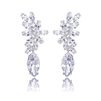 Free Shipping Alibaba Jewelry Fashion Drop Zircon Earrings Simple Style Fashion Earring Fashion Fake Gold Earrings
