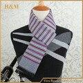 180 * 30 cm alta calidad venta al por mayor larga a rayas moda para hombre bufandas hombres bufandas de cachemira europeo de lujo de marca
