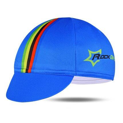 ROCKBROS Мужская велосипедная Кепка для горного велосипеда, велосипедная командная Кепка, дышащие спортивные солнцезащитные кепки для активного отдыха, 7 цветов - Цвет: Blue