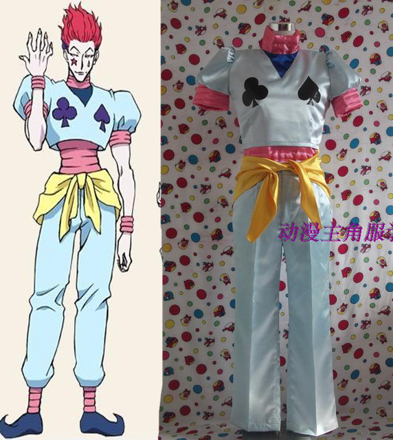 Hunter X Hunter Hisoka Outfit Cosplay Costume Halloween Party Cos Full Set Clothing Custom Made Top+Vest+Pants+Shoes Cover+Belt