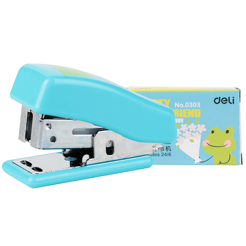 Mini Stapler 24/6 Plastic Stationery Kawaii Stapler Paper Office Accessories Mini Cartoon Binder Stationary 1pcs