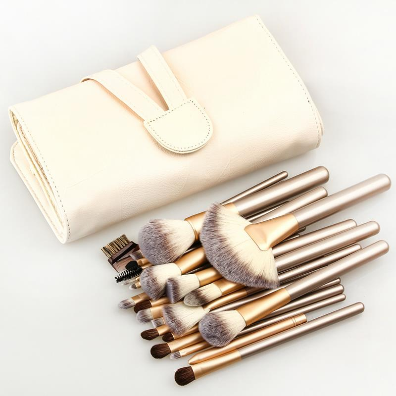 Professional 24 pcs Makeup Brush Set tools Make-up Toiletry Kit Wool Brand Make Up Brush Set Case Cosmetic brush free shipping new professional 15 pcs makeup brushes set tools make up toiletry kit make up brush set case cosmetic foundation brush
