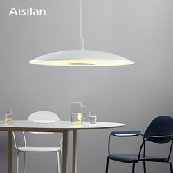 Aisilan Nordic artwork LED pendant lamp Modern style metal frosted glass for parlor bedroom corridor dining room 15W 24W