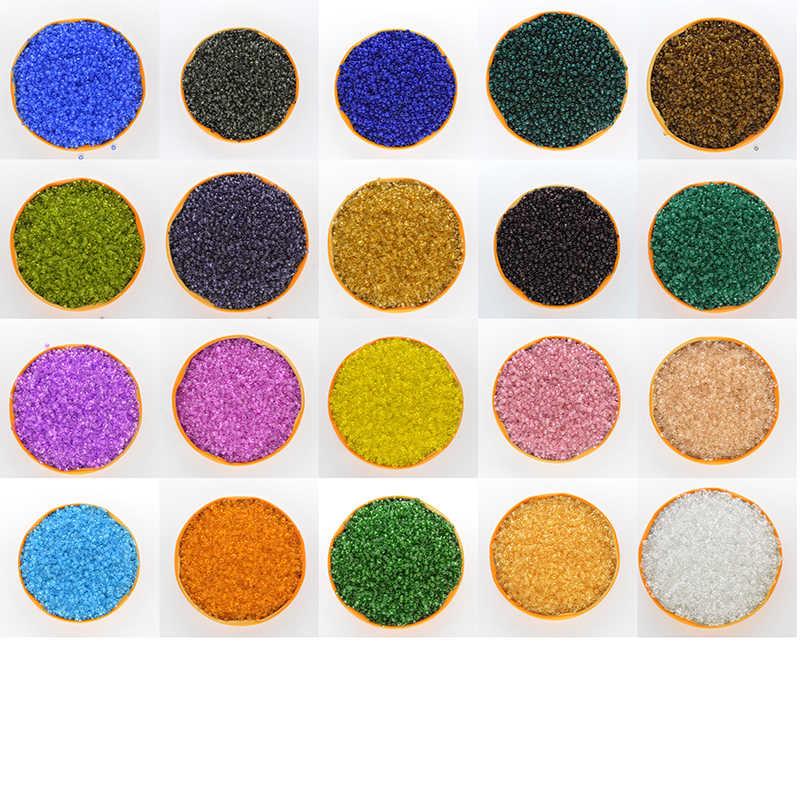 Couleur vert foncé 2mm 1000 pièces perles entretoises en verre cristal, perles de rocaille tchèque pour bijoux à la main bricolage couleurs transparentes