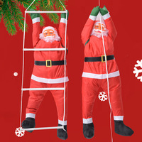 1 PCS 60CM Climbing Santa Claus Doll Pendant Home Decoration Gift Christmas Tree Hanging Children Toys Holiday