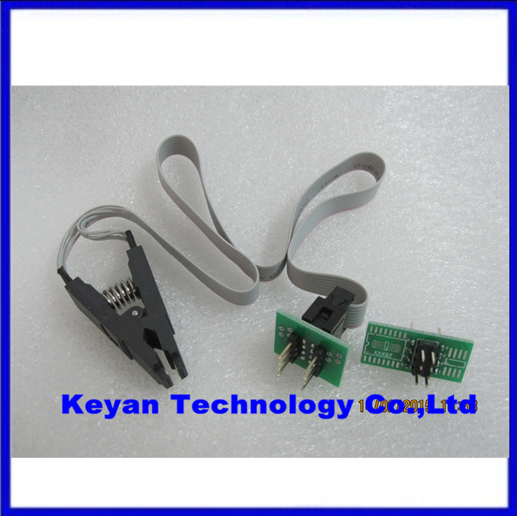 Free Shipping update version SOIC8 SOP8 Test Clip For EEPROM 93CXX 25CXX 24CXX in circuit programming