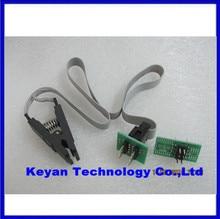 Бесплатная Доставка обновление версии SOIC8 SOP8 Зажим Испытания Для EEPROM 93CXX/25CXX/24CXX внутрисхемного программирования 2 адаптеры