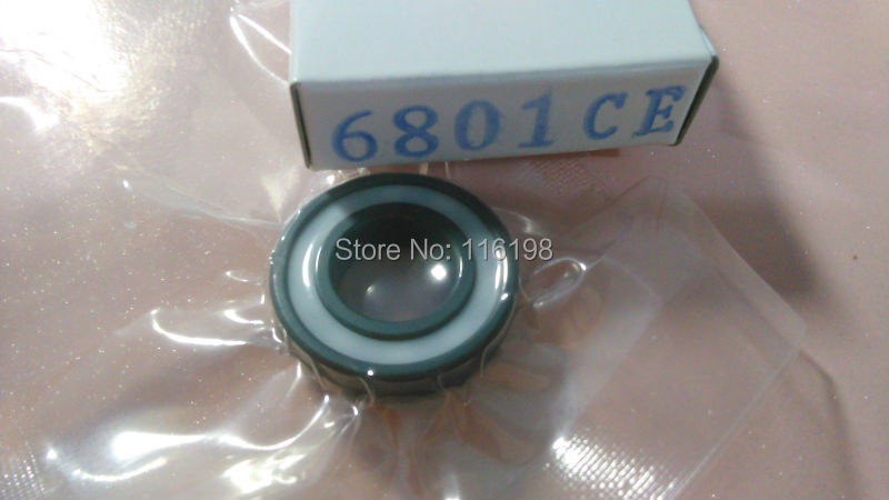 6801 2RS full SI3N4 ceramic deep groove ball bearing 12x21x5mm with seals 61801 2RS bearing P5 ABEC5 samsung rs 21 fcsw