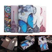 Lenovo K6 Примечание case 5.5 »Luxury бабочка башня живопись бумажник флип магнитный Кожаный защитный чехол case для Lenovo K6 Примечание