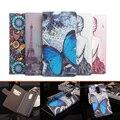 Lenovo k6 nota case 5.5 ''luxury torre borboleta pintura carteira de couro flip magnético capa protetora case para lenovo k6 nota