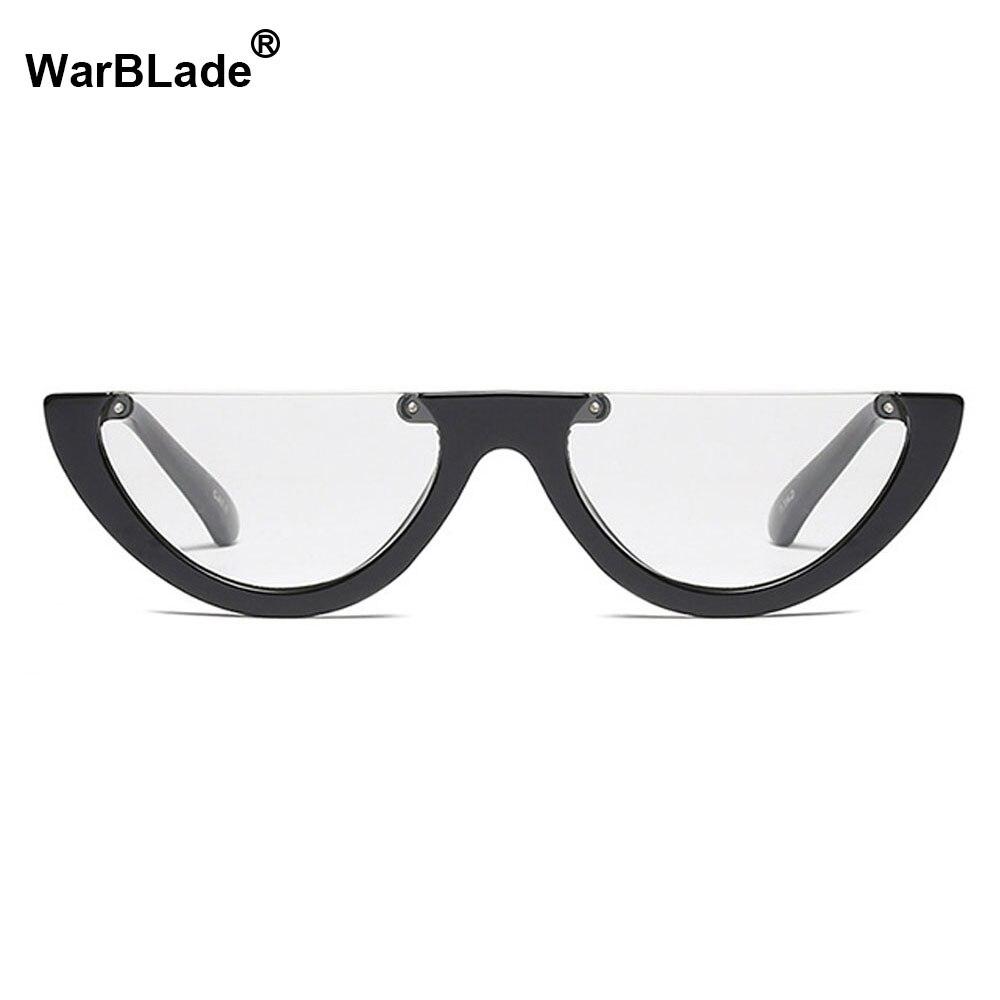 9e13e72ed7c6c 2018 NEW Fashion Women Glasses Frame Men Eyeglasses Vintage Half Clear Lens Optical  Spectacle Cat Eye