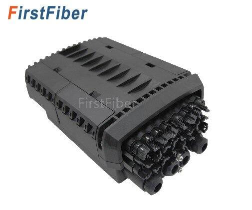 Câble de largage Fermeture 24 core 4 port câble ftth Type fibre Optique Splice & Splitter Fermeture IP68 Étanche fibre boîte de Jonction
