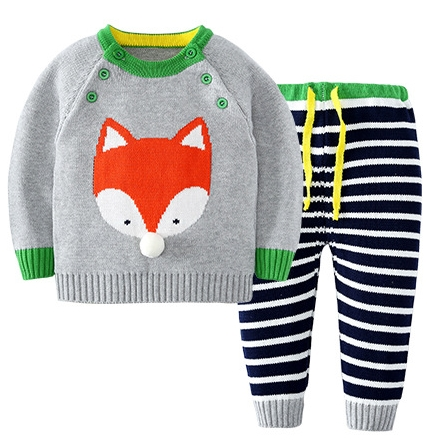 2017-Girl-Boy-Knitting-Winter-Sweater-Kid-Knit-Jacket-Long-Sleeve-Baby-Clothes-2-pieces-Top-Pants-4
