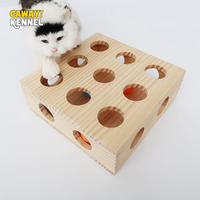 CAWAYI KENNEL Wooden Pet Cat Scratch Board Exercise Intelligence Ball Toys For dogs Cats Juguete perro honden speelgoed zabawki
