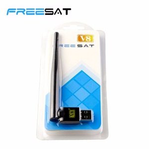 2,4 GHz FREESAT USB WiFi с антенной работает для Freesat V7 HD V8 Супер цифровой приемник спутникового сигнала для HD TV телеприставка