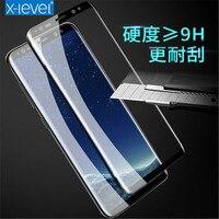 3D 9 H 0.22mm pantalla completa de alta definición de cristal templado para Samsung galaxy S 8 plus S 8 teléfono protector de pantalla cubierta de vidrio