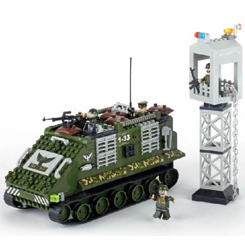 Banbao 8233 Serie Militar Blindado Tanque 330 unids Plástico Building Block Sets Bricks Educación de BRICOLAJE Juguetes para niños