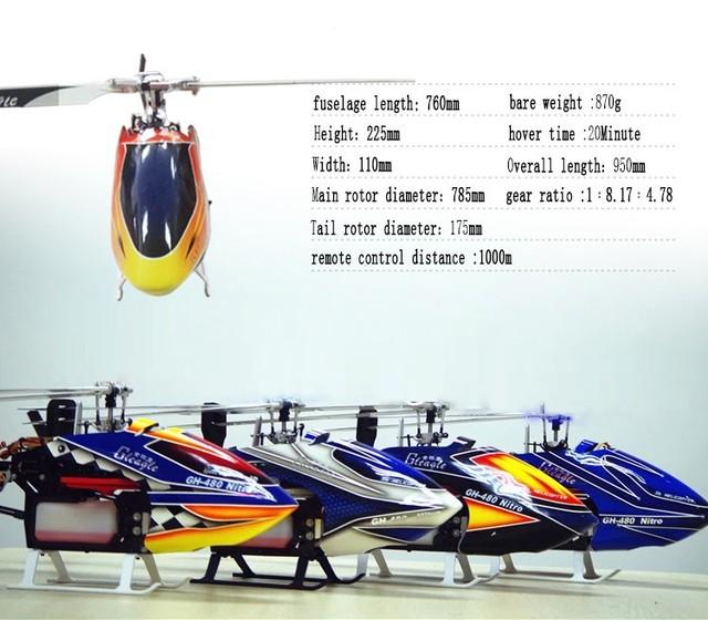 Águia mundial 480N18-DFC450L 6CH RTF helicóptero Rc helicóptero de combustível gás nitro Rc drones / RTF poderoso 3D dublê
