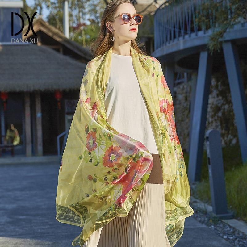 2019 Silk Long Scarf Luxury Brand Women New Design Beach Blanket Shawl Wear Swimwear Bandana Hijab