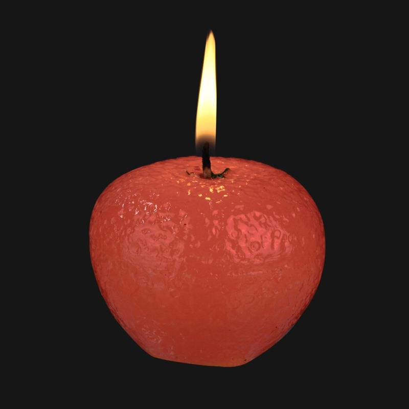 Scented Candle Simulation Apple Orange Lemon Valentines Day Christmas Gift Kid Night Lighting Lover Funny Gift
