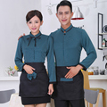 Chef Uniform for Hotel Restaurant Waiter Uniform Shirt+apron Cafe Waitress Uniform Work Wear Men Fast Food Service  Chef Jacket