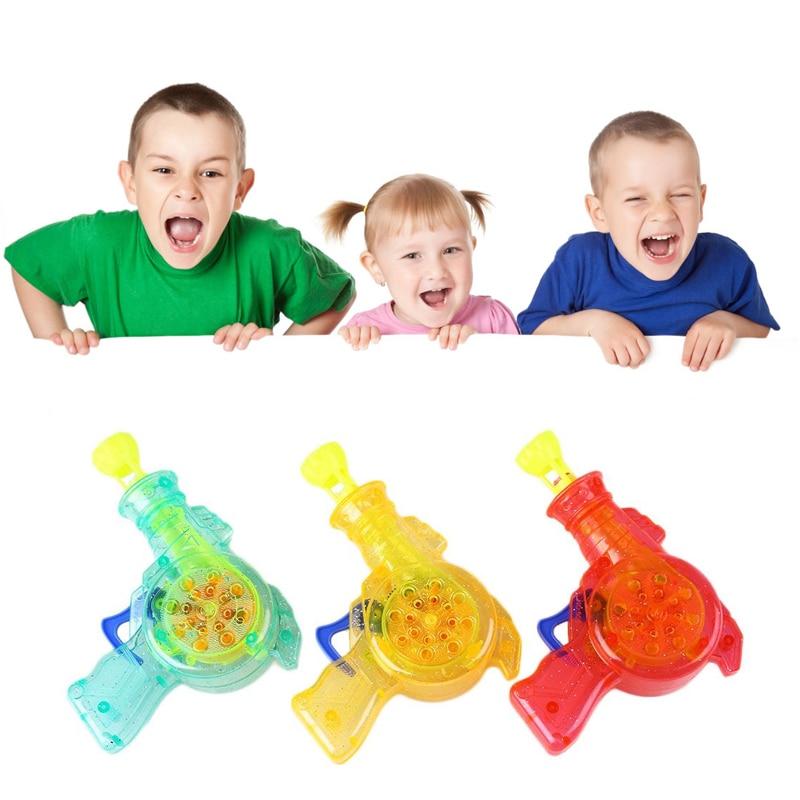 1 pc Shining Bubble Gun Soap Bubble Blower Outdoor Kids Child Toys Gift Color Random
